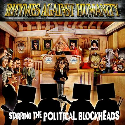 "The cover of the CD, ""Rhymes Against Humanity"""