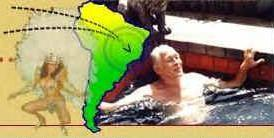 Ronnie Biggs in Brazil... but he went back to the UK!